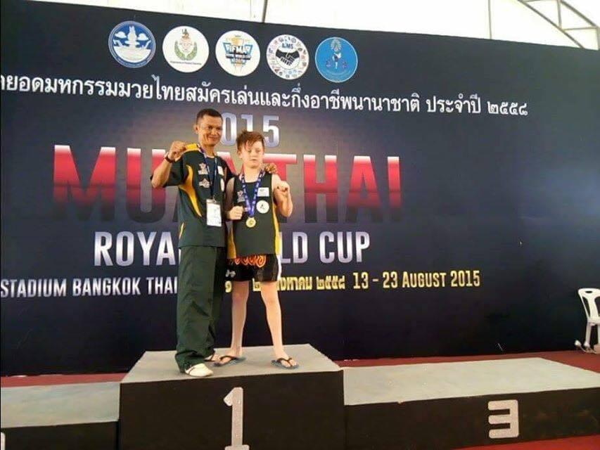 Muaythai Gold Medal Josh King